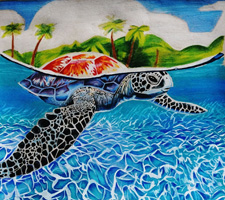 10th 12th Grade Honorable Mention Green Sea Turtle