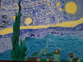 2nd 3rd Grade 1st Place Van Gogh's Starry Night