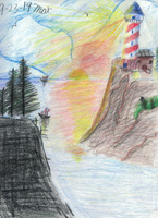 2nd 3rd Grade 3rd Place Lighthouse Scene