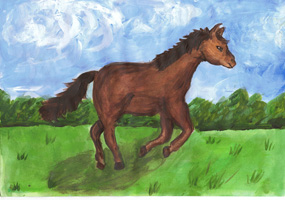 4th 6th Grade Honorable Mention Coco, My Nana's Horse