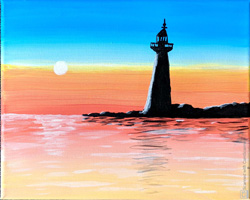 7th 9th Grade Honorable Mention Peggy's Point Lighthouse at Sunset