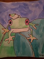 K 1st Grade 2nd Place Frogs on a Leaf