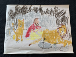 K 1st Grade Honorable Mention Daniel in the Lion's Den