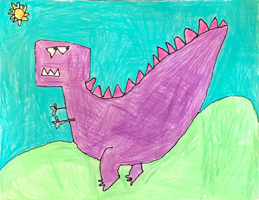 K 1st Grade Honorable Mention Dinosaur Land