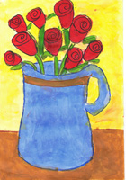 K 1st Grade Honorable Mention Flowers for Mary